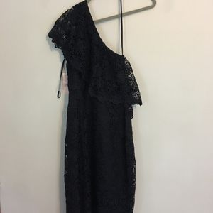 Navy One Shoulder Cocktail Dress (NWT)